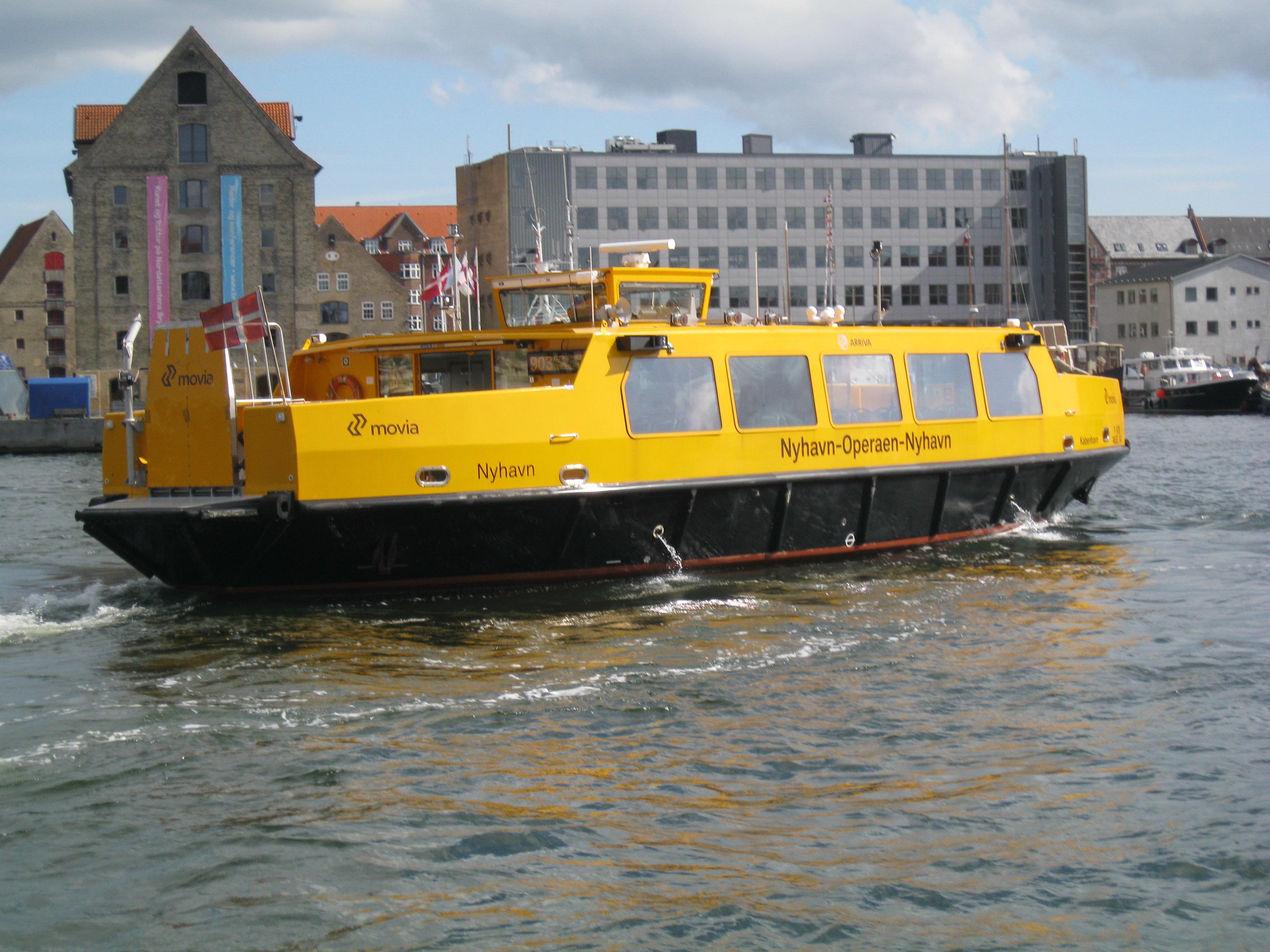 Copenhagen Harbour Buses Change Here