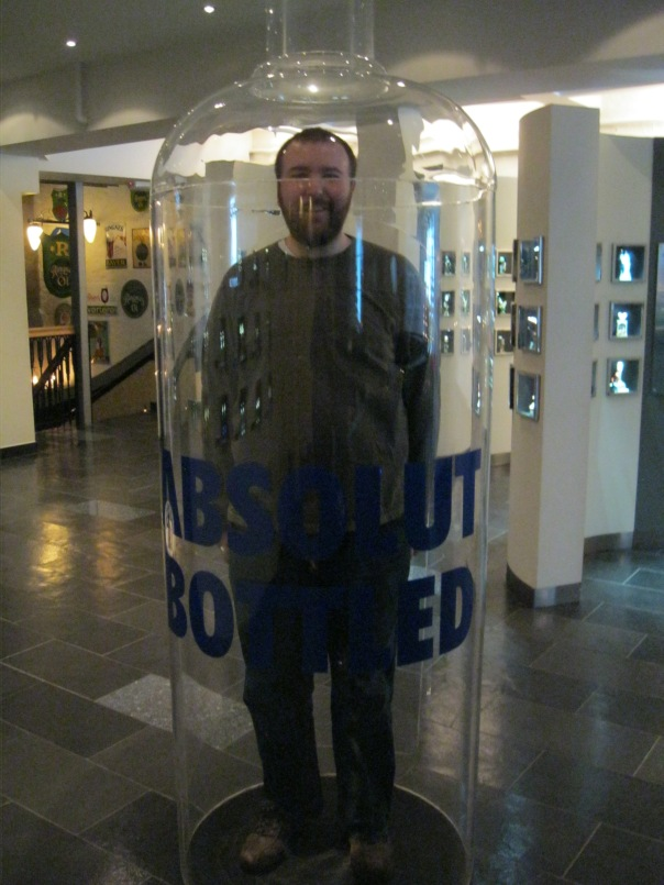 And yes, there was Absolut bottle that you could stand inside, so it looks like you are miniature, like the bottle. I'm not sure it was that successful...
