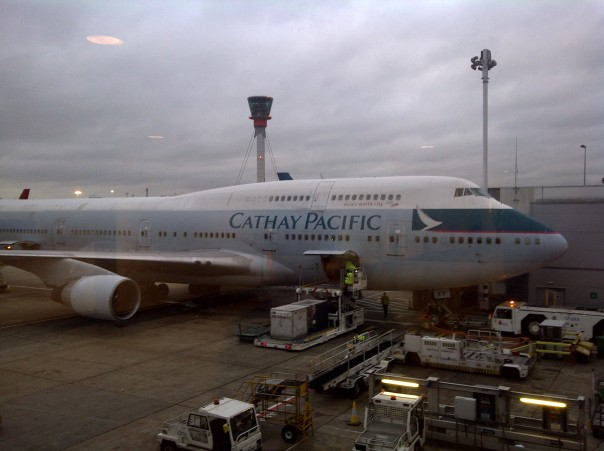 The Queen of the Skies - London to Hong Kong on the upper deck of a Cathay Pacific 747-400.
