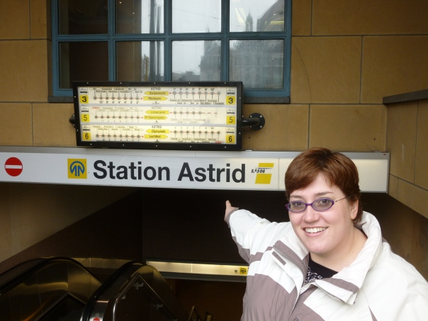 Alex and I were totally surprised to see the Astrid Station though. Can you believe that my transit-obsessed husband didn't know that I have my own metro station?  I know it's nothing compared to Alexanderplatz in Berlitz, but it's still not shabby!