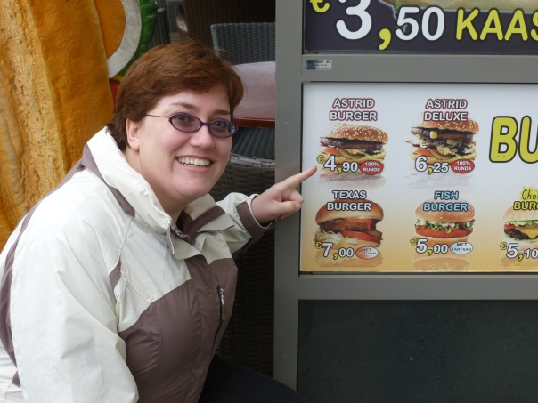 But definitely the piece de resistance is the Astrid Burger. Alas, it was about 8:30 in the morning when we found it, so I did not partake, but maybe next time!