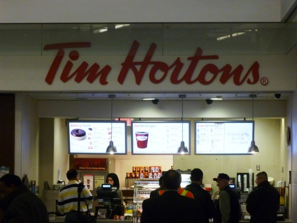 Tim Horton, my long lost buddy - a welcome sight!