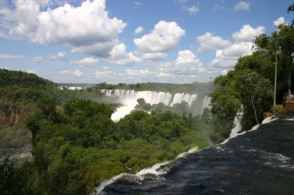 Iguacu Falls, where Argentina, Brazil, and Paraguay meet - we plan to visit there at the end of the trip, since our return flights are from Sao Paulo (credits: Wikipedia)