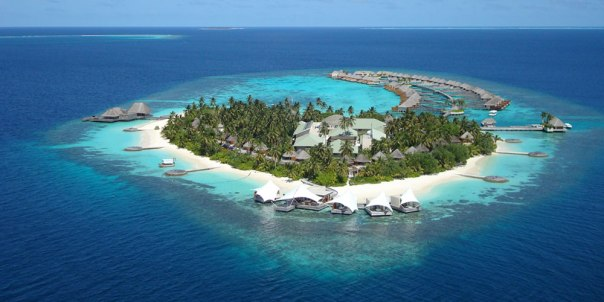 One of the many island resorts that comprise The Maldives.  Acocording to Wikipedia, there are 192 inhabited islands out of 1,192 total islands, with a total population of about 330,000 (or slightly more than the population of the city of St. Louis).