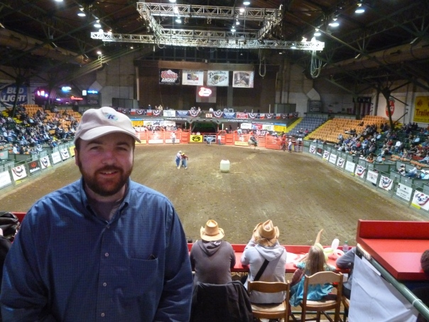 The group went to the Fort Worth Stock Show and Rodeo - a real Texas experience!