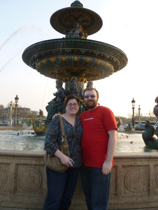 Astrid and I at Place de la Concorde in the heart of Paris.