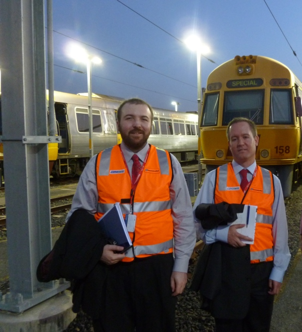 My colleague and I at the rail yard in Brisbane.  Unfortunately, we only had one day to explore Brisbane - don't worry, though, Astrid and I are working hard on a long-term plan for a great vacation down under!