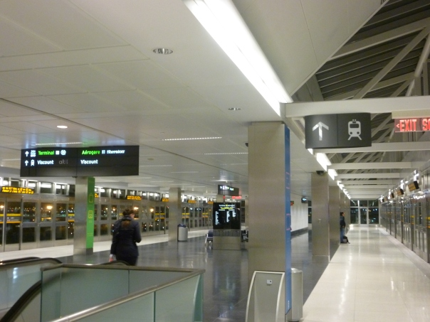 The airport's LINK train has a huge station with absolutely no passengers!