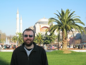 This must be one of the most popular spots to take a photograph in Istanbul - with the Aya Sofia in the background!