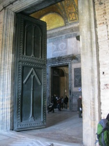 Some of the largest and most impressive doors I have ever seen. I like the arrows telling you which way to go. Those Byzantines had good way-finding!