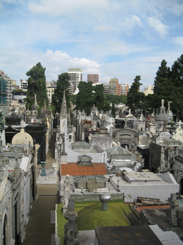 Looking down on the cemetery from the church. You can clearly see the alleys and walkways that make this a mini-city.