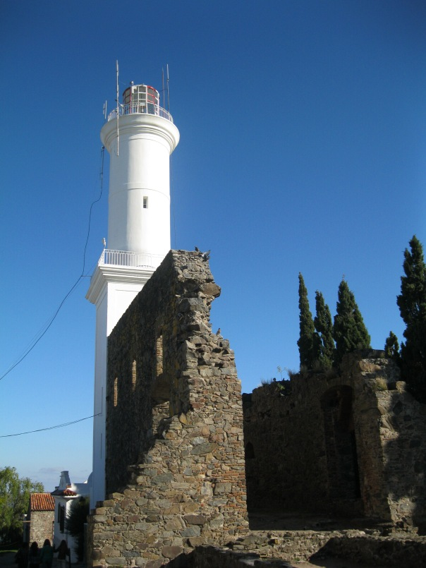 The lighthouse and attached convent - all in ruins.
