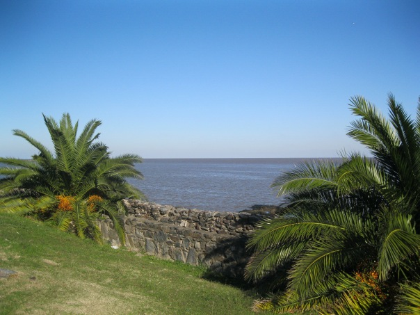 Looking out over the Rio de la Plata from Colonia.