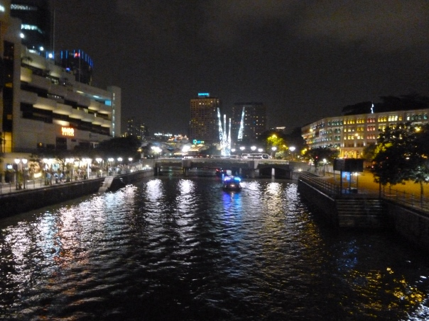 We did manage to get out for dinner on Friday night, along the Singapore River (actually a canal).  There were tons of restaurants lining the canal, with some aggressive barkers!