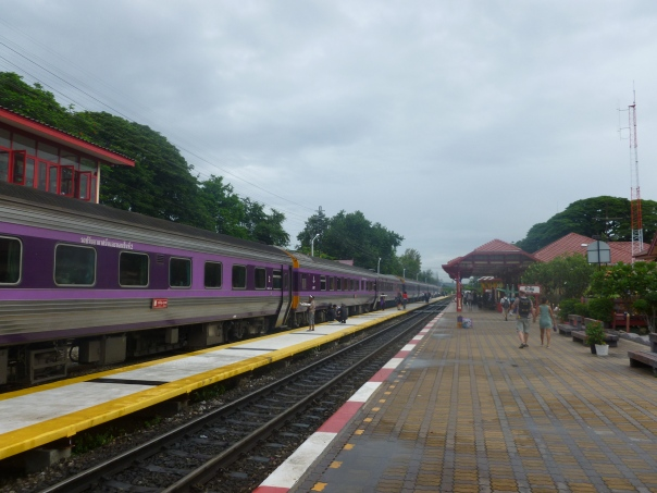 Once into Thailand, the train grows much larger!  I boarded the train at 2:30pm on Sunday in Malaysia and got off at about 7:30am at Hua Hin, Thailand - a beach resort town about 130 miles south of Bangkok.