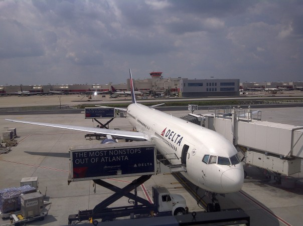 This Delta 767-400ER was my ride from London to Atlanta, on my way to Florida.  There are only 37 of this type of plane - the newest and largest type of 767 - in existence, with 21 at Delta and 16 at United (that were previously Continental).