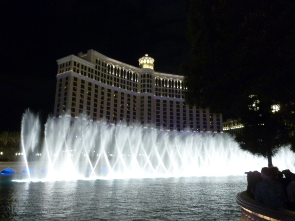 I couldn't turn down a quick overnight stop in Las Vegas on the way to more sober work in Salt Lake City last March - we had a great walk up and down the Strip with a stop at the Ocean's Eleven spot in front of the Bellagio.