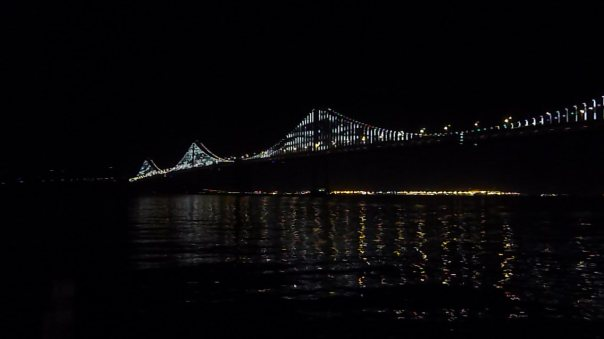 While in San Francisco I caught the start of The Bay Lights, a public art display with LED lights on the otherwise utilitarian Bay Bridge, which has always been stuck trying to make a name for itself compared to its Golden cousin...