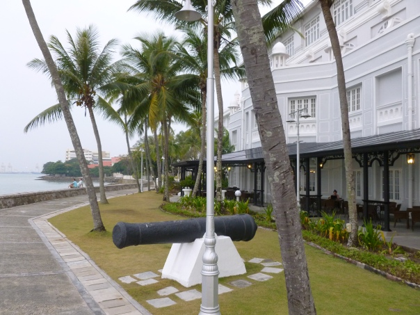 This is the promenade in front of the Eastern and Oriental Hotel in Georgetown, Penang, Malaysia - probably the nicest hotel I've ever stayed at, and for less than £100 a night! If I could post a picture of the balcony showing the sea and playing the sound of the waves crashing, I would...