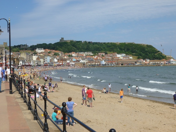 The Scarborough seaside is still popular in the summer, as we found during our driving trip through Yorkshire for Astrid's birthday.