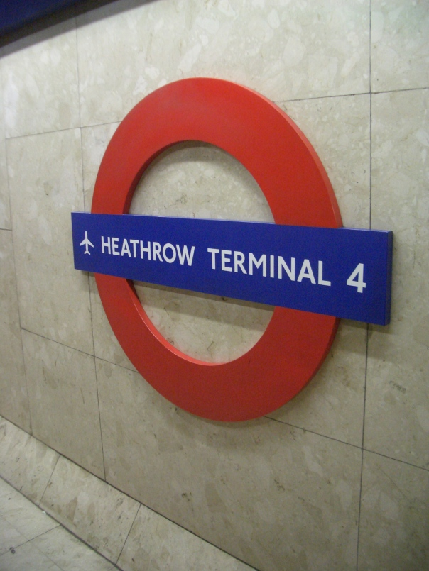 Moving to one of the two other single-track stations (all terminals) on the Underground, the Heathrow Terminal 4 station is on an underground single-track loop that travels under the runways.  This odd configuration was added in 1986 to the 1977 Heathrow Central extension, when presumably no one thought there would be further expansion at Heathrow.  Of course, 22 years later Terminal 5 opened, along with a new extension from Heathrow Central (T1,2,3) that is separate from the T4 loop, leading to a split service with a train every 10 minutes to T4 and T1,2,3 and every 10 minutes to T1,2,3 and T5 - no, not confusing at all for the world's busiest international airport!