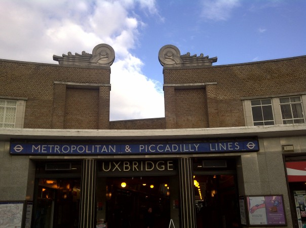 Starting with the end - the front of Uxbridge Station, the last part of the Underground to see. This is a classic LU design, by prolific and well-loved architect Charles Holden, that opened just before the war in 1938.
