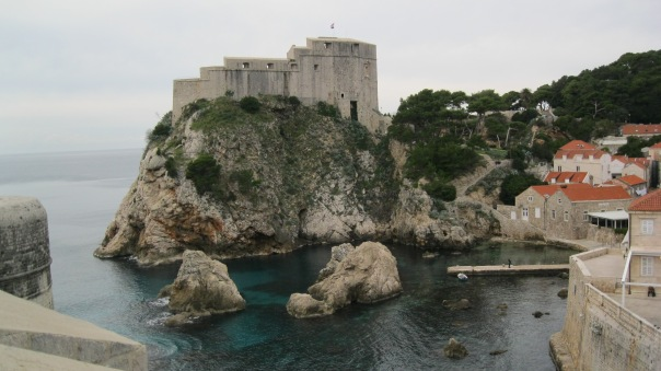 The St Lawrence Fortress sits just outside the walls, and is often called Dubrovnik's Gibraltar.