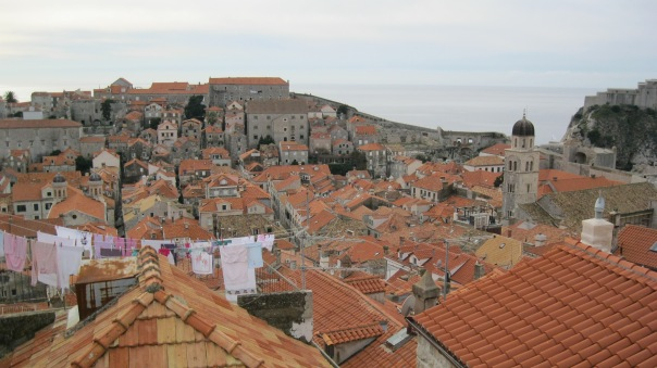 Red tile roofs ... blue Adriatic...