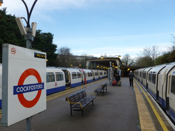 Cockfosters is the frequently heard funny name at the north end of the Piccadilly Line, that is a 99-minute one-seat ride past 40 stations from Uxbridge.