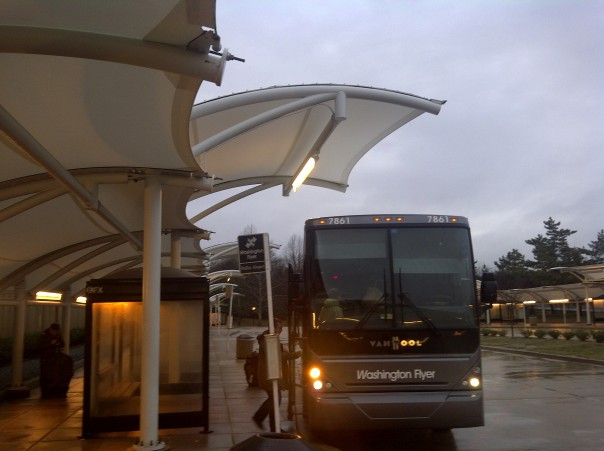 For the last time, I took the Washington Flyer bus from Dulles Airport to the West Falls Church Metro Station. Later in 2014 the new Silver Line opened a good part of the way to Dulles, so next weekend I'll be taking the new shorter, cheaper and more frequent shuttle bus to the new metro station!