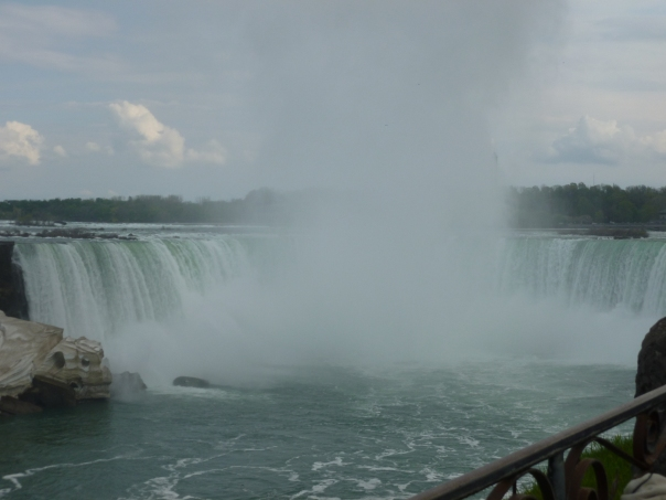 Although it is gimmicky, I have always loved Niagara (Ontario, not NY!). After this, a colleague and I crossed the border on foot (the first time I've done that in the US-bound direction) and tried to get a bus from Niagara into Buffalo. Sadly, we waited on the wrong side of the street for the hourly bus - even transit professionals can't figure it out with very limited and poor signage - and had to get a taxi (gasp!) to the Niagara Falls Amtrak stop (calling it a station would give it too much dignity).