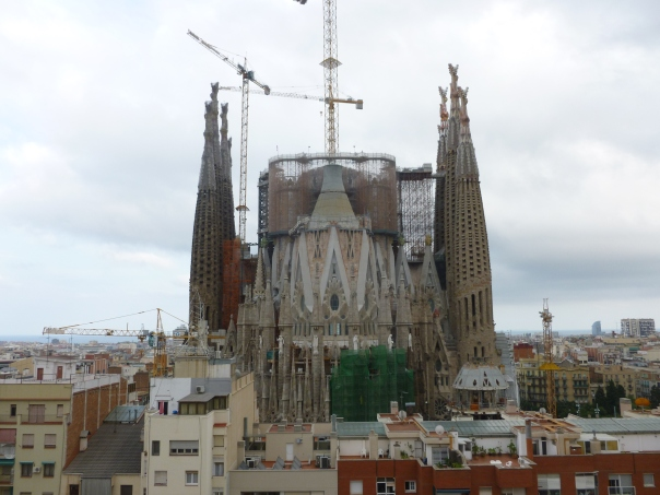 The view out of my hotel room of the Sagrada Famlia, the famous still-unfinished Gaudi church in Barcelona. I have to go back in 2015 for work and Astrid is definitely coming along to visit this amazing city.