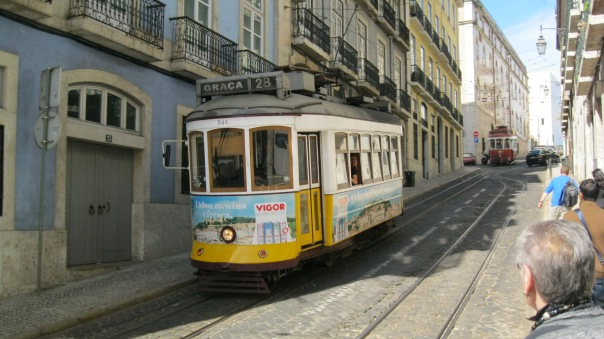 What better to encapsulate our excellent long weekend in Lisbon in April than a tram? Astrid and I both were enamored with the colorful and dynamic city by the water...